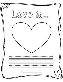 Love Is... Valentine's Writing