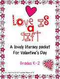 Valentine's Day Story and Literacy Centers