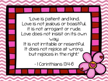 Love Is...Bulletin Board Idea Based on 1 Corinthians 13
