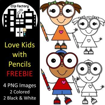 Love Kids with Pencils FREEBIE