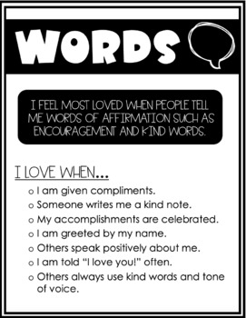 Love Languages Posters for Classroom Display