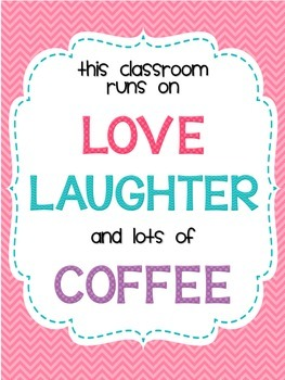 Love, Laughter and Coffee Printable