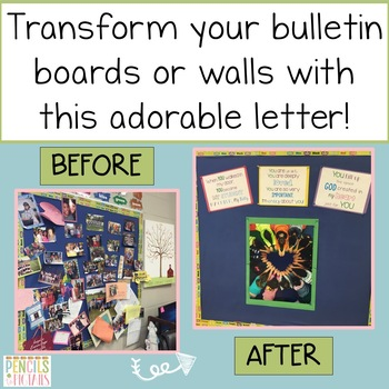 Love Letter to Students - Bulletin Board Decor in color or black & white