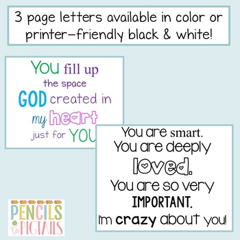 Classroom Decor - Letter to Students Freebie