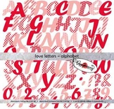 Love Letters Digital Clipart Letters and Numbers by Poppydreamz