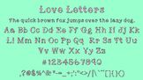 Love Letters Heart Font