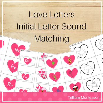 Love Letters Initial Letter Sound Matching