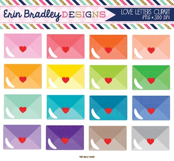 Love Letters Mail Clipart