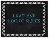 Love & Logic Rule Posters Chalkboard w/ Teal