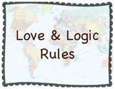 Love & Logic Rule Posters World History Theme