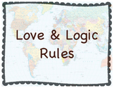 Love & Logic Rule Posters World History Theme