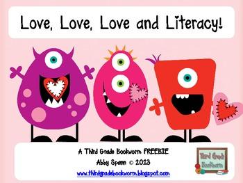 Love, Love, Love and Literacy {Mystery Phrase Freebie}