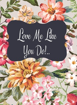 Love Me Like You Do Lyrics Poster