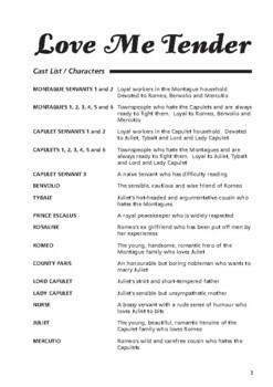 Drama Play Script, Love Me Tender (Romeo & Juliet, Shakespeare, soap opera)