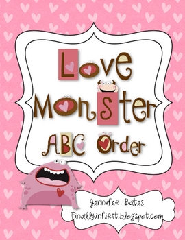Love Monster ABC Order