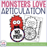 Love Monster Articulation: No Prep Speech Therapy