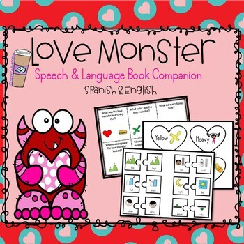 Love Monster: Book Companion Actvities - BUNDLE in Spanish & ENGLISH