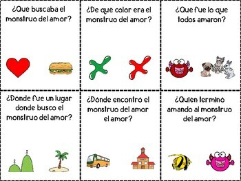 Love Monster: Book Companion With Speech Therapy Activities in SPANISH