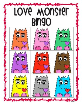 Love Monster Color Bingo