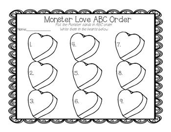 Love Monster Craftivity Pack