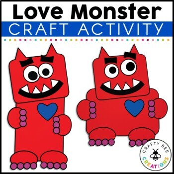 Love Monster Cut and Paste