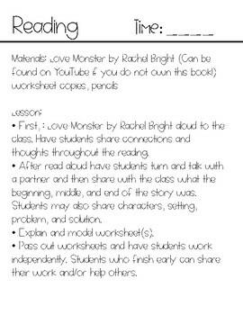 Love Monster Emergency Sub Plans