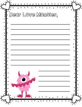 Love Monster Letter - Valentine Writing