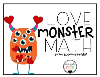 Love Monster Math Center- Adding Two Digit Numbers