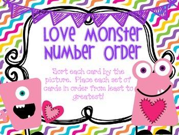 Love Monster- Ordering Numbers