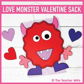 Love Monster Valentine Sack Template