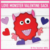 Love Monster Valentine Sack Template