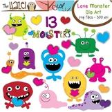 Love Monster Set: Clip Art Graphics for Teachers