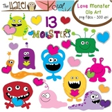 Love Monster Set: Clip Art Graphics for Teachers