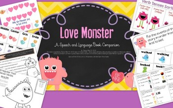 Love Monster: Speech and Language Book Companion