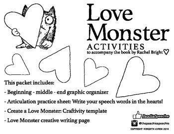 Love Monster Valentine Activities