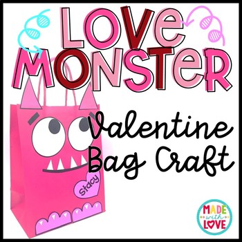 Love Monster Valentine Bag Craft
