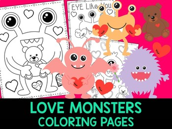 Love Monsters Coloring Pages - The Crayon Crowd, Valentine's Day, Mother's Day