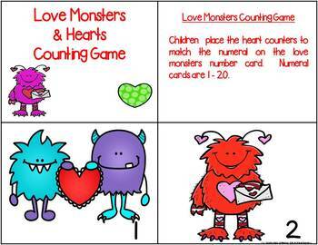 Love Monsters Counting Game {FREE}