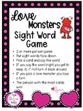 Love Monsters Sight Word Game