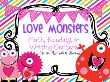 Love Monsters- Valentine Centers- 1st Grade