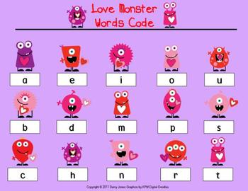 Love Monsters Words Code Station