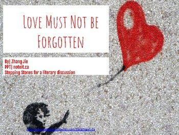 Love Must Not Forgotten| Discussion Tool