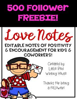 Love Notes {500 Followers FREEBIE}