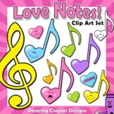 Music Note Clip Art | Music Notes in Heart Design