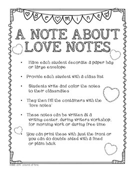 Love Notes- Mini Notes to Spread the Love!