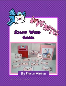 Love Notes - Sight Word Game