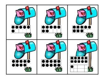 Love Notes Ten Frames 0-20 Math Center
