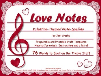 Love Notes - Valentine-Themed Note-Spelling for Fun & Assessment