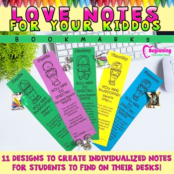 Love Notes for Your Kiddos | Positive Bookmarks & Surprises