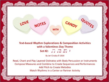 Love Notes with Candy Quotes #2: tika-ti - Music Activitie